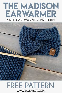 The Madison Ear Warmer Pattern - Knitting Pattern Knitting Ideas Knit 2020 Knitting Trend Easy Knitting Patterns, Free Knitting, Baby Knitting, Simple Knitting Projects, Knit Scarves Patterns Free, Creative Knitting, Knitting Hats, Knitting Blogs, Knit Hats