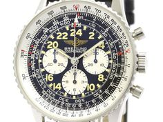 Polished #BREITLING Navitimer Cosmonaute Hand-Winding Mens Watch A12022 (BF100847).  All of #eLADY's items are inspected carefully by expert authenticators who have years of experience. For more pre-owned luxury brand items, visit http://global.elady.com
