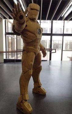 Cardboard Iron-Man by 鍾凱翔 Kai-Xiang Xhong