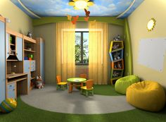Kids Room, Awesome With Cupboards Of Kids Room Storage And Furnished With Ball Chairs Contemporary Kids Room With Tiny Round Table Also Chairs Completed With Desk Combined: Wonderful The Two Plan for Creating the Kids Room Repository