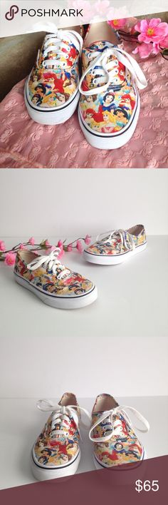 fd0dd32d35c Vans Limited Edition Disney Princesses Sneakers Absolutely adorable little  Vans