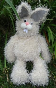 How to make Knitted Floppy Easter Bunny - DIY Craft Project with instructions from Craftbits.com