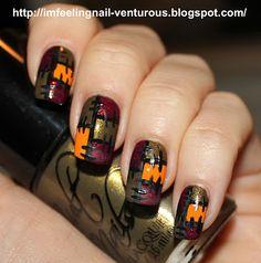 I'M FEELING NAIL-VENTUROUS: Cult Nails Polish = Patch Work Nail Design