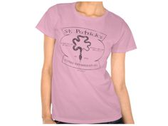 St Patrick's Reptile Exterminations, Style is Women's Hanes ComfortSoft T-Shirt, color is pink Irish Design, Pink Tops, Gay, Tees, Polyvore, T Shirt, Stuff To Buy, Shopping, Color