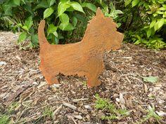 Rusty Westie / Rusty Metal Garden Art / Westie gift / Dog