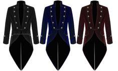 Men Handmade Steampunk Tail coat Jacket Velvet Goth VTG Victorian Various Colors Steampunk Jacket, Gothic Steampunk, Kilt Jackets, Victorian Coat, Tartan Kilt, Tuxedo Jacket, Jacket Men, Tuxedo For Men, Shopping