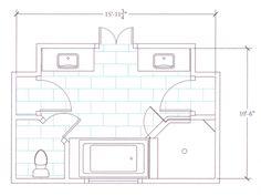 Master Bathroom Layout   Master Bathroom Renovation Floor Plan From An  Interior Design Project .