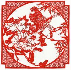 Chinese Kirigami Paper Cutting Birds and Flowers Kirigami, Chinese Paper Cutting, Paper Cutting Templates, Paper Cut Design, Paper Lace, Cut Paper, Silhouette Art, Stencil Art, Stencils