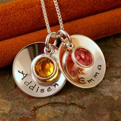 Hand Stamped Mommy Necklace Personalized by IntentionallyMe, $44.00 USD - I own this!