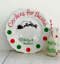 cookies for santa plates more christmas - Decorative Christmas Plates