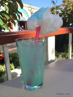Cotton Candy Lemonade at The Cove Bar in Disneyland