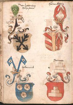 Wernigeroder (Schaffhausensches) Wappenbuch Süddeutschland, 4. Viertel 15. Jh. Cod.icon. 308 n  Folio 162v