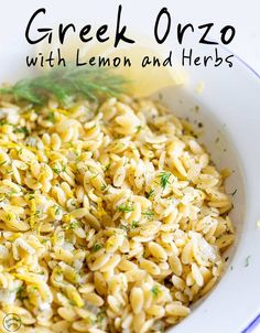 Greek Orzo with Lemon and Herbs | Sprinkles and Sprouts