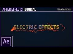 How to Create Electric Effects for Motion Graphics - After Effects Tutorial - YouTube
