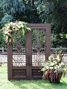 Backdrop/Staging on Pinterest   Wedding Ceremonies Draping and . & rustic ideas-- old doors used as wedding backdrop also love the ... pezcame.com