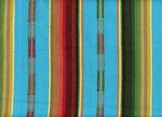 Aztec Upholstery Stripe Aqua