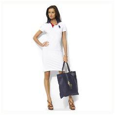 ralph lauren collection - Polo Ralph Lauren femme annee Robe en coton en  Bleu 3e101a7b0339