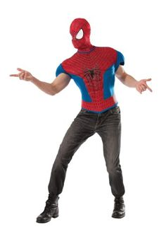 Rubies Costume Mens Marvel Universe The Amazing Spiderman 2 Muscle Chest Top @ niftywarehouse.com