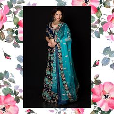 """""""A wedding dress is both intimate and personal for a woman — it reflects the personality and style of the bride.""""  #rentanattire #raabride #raabridallehenga #bridallehenga #bluebridallehenga #niveditasaboocollection #weddingdress #lehengaonrent"""