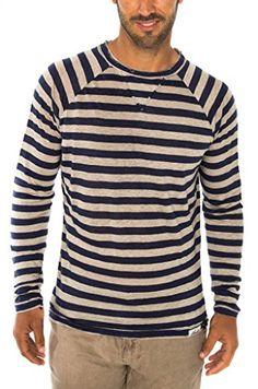 5d72209d69 Claudio Milano Men s 100% Jersey Linen Long Sleeve Tshirt
