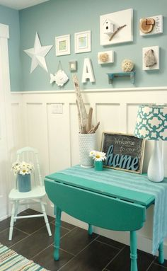 cottage furniture the hall Decoration Furniture Console Table Table mint color blue pictures