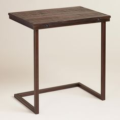 Oversized Wood and Metal Laptop Table | World Market