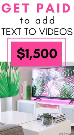 Earn money online by typing captions for videos. A side hustle for extra cash Ways To Earn Money, Earn Money Online, Make Money Blogging, Online Jobs, Way To Make Money, Online Business Opportunities, Work From Home Opportunities, Work From Home Jobs, Make Money From Home