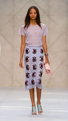 Layered Gem English Lace Skirt | Burberry