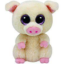 Ty - TY37200 - Beanie Boo's - Peluche Piggley Cochon - 15 cm