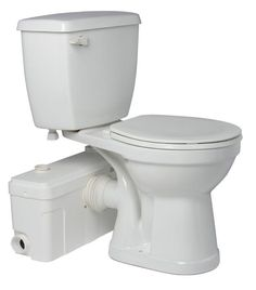 SaniPlus Toilet with Macerator Series Pump One Saniflo product and you have an entire sophist . Upflush Toilet, Toilet Bowl, Basement Bathroom, Bathroom Ideas, Basement Toilet, Bathroom Small, Complete Bathrooms, Composting Toilet, Thing 1