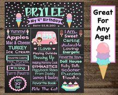 Ice cream birthday, ice cream chalkboard, girls first birthday ice cream party, i . Ice Cream Theme, Ice Cream Parlor, Ribbon Backdrop, Popsicle Party, Ice Cream Stand, Candy Stand, Girl First Birthday, 4th Birthday, Birthday Ideas