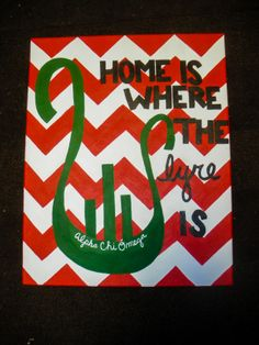 Alpha Chi Omega: Home Is Where The Lyre Is Mckenzie's Birthday Gift!