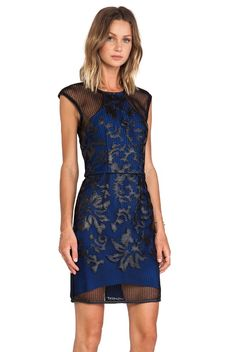 Lumier Breaking Hearts Party Dress Blue Black Scuba