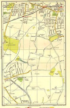 London Map, London Places, Old London, Croydon Airport, London Docklands, The Blitz, Greater London, Vintage Maps