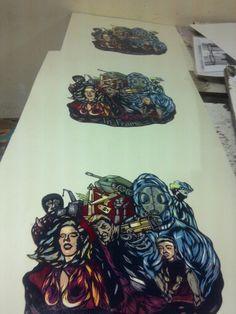 Linocut print ( 15 colour )