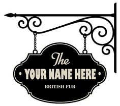Custom home pub wall decal sign by Walkingdeadpromotion, $34.99