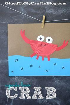Cupcake Liner Crab - Kid Craft