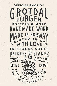 Type & Lettering - Logos & Type Vol. 2 by Jorgen Grotdal - Typography Poster, Graphic Design Typography, Lettering Design, Branding Design, Logo Design, Web Design, Print Design, Logos Retro, Vintage Logos