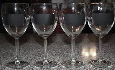 Christy: Chalkboard Wine Glasses...For A Dollar