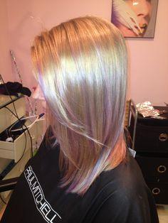 Lavender balayage highlights #glambytoriebliss