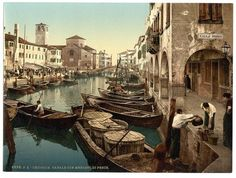 Colour photocrom of Venice, 1890s