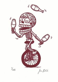 Unicycle pictures courtesy of Tracy Kania. Thanks Sis! Mundo Tattoo, Monocycle, Sketch Manga, Arte Punk, Frida Art, Spanish Art, Flash Art, Mexican Folk Art, Skull And Bones