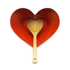 Heart Bowl and Bamboo Ladle   dotandbo.com