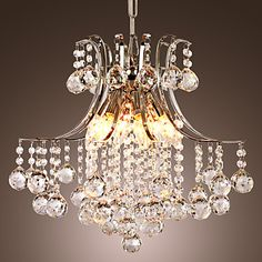 Modern Crystal Chandelier with 6 Lights – USD $ 213.99