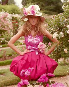 Pink- love the dress, the hat, I can live without