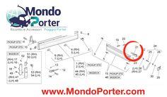 Maniglia Sponda Posteriore Cassone Piaggio Porter , 6620187Z01000