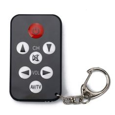 HDE® Mini Stealth TV Television Remote by HDE. $1.95. Use the Mini Keychain Universal Remote to control up to 500 brands of televisions. This item is easy to program and works within a few seconds. Simply point and hold the mute button to program. Great for bars, restaurants, the gym, schools, and hotels anywhere! The laughs will keep on coming! Get yours today and save!