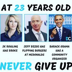 You could have a lot of failures in your life before but the Real failure is if you give up on your dreams and if you give up on become free.  Please Follow👇👇👇 @financialfreedomforyounow  Credit for @thesuccessfield Community Organizing, You Gave Up, Barack Obama, Never Give Up, Business Tips, Comebacks, Dreaming Of You, Believe, Life