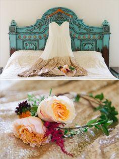 gold sequin dress design @weddingchicks