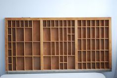 I ant, I want! It's really the only antique thing (besides the letters themselves) that I can think of for my GD office.- Printing Press Drawers as Shelves Printing Press, Drawers, Shelves, Letters, Antiques, Table, Prints, Furniture, Home Decor